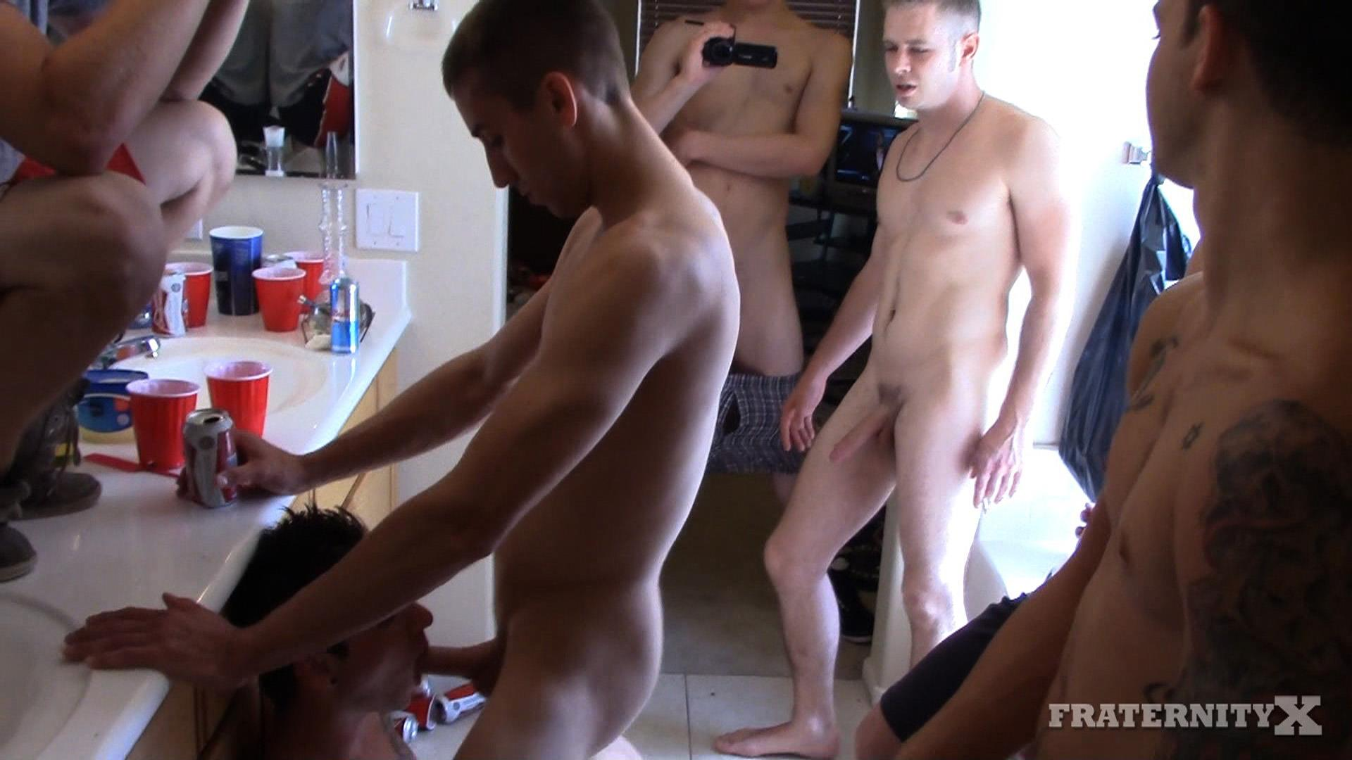 Amateur gangbang gay first time intent on 5
