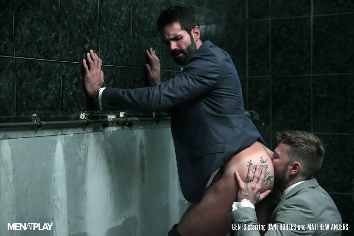 Men At Play Matthew Anders and Dani Robles Men In Suits With Big Cocks Fucking Amateur Gay Porn 19 Looking For Cock and A Fuck In the Mens Restroom