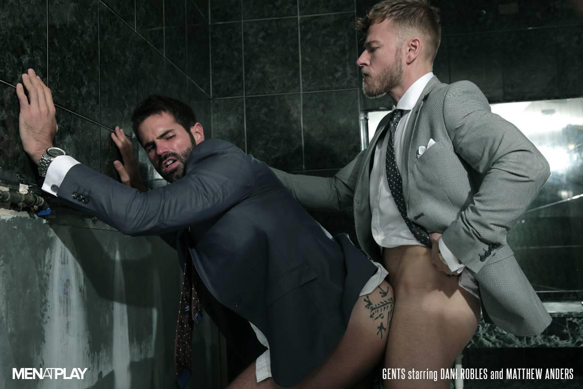 Men At Play Matthew Anders and Dani Robles Men In Suits With Big Cocks Fucking Amateur Gay Porn 22 Looking For Cock and A Fuck In the Mens Restroom