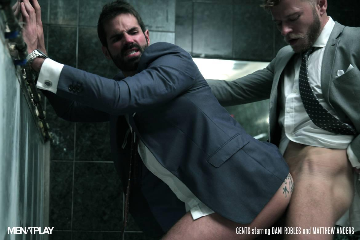 Men At Play Matthew Anders and Dani Robles Men In Suits With Big Cocks Fucking Amateur Gay Porn 24 Looking For Cock and A Fuck In the Mens Restroom