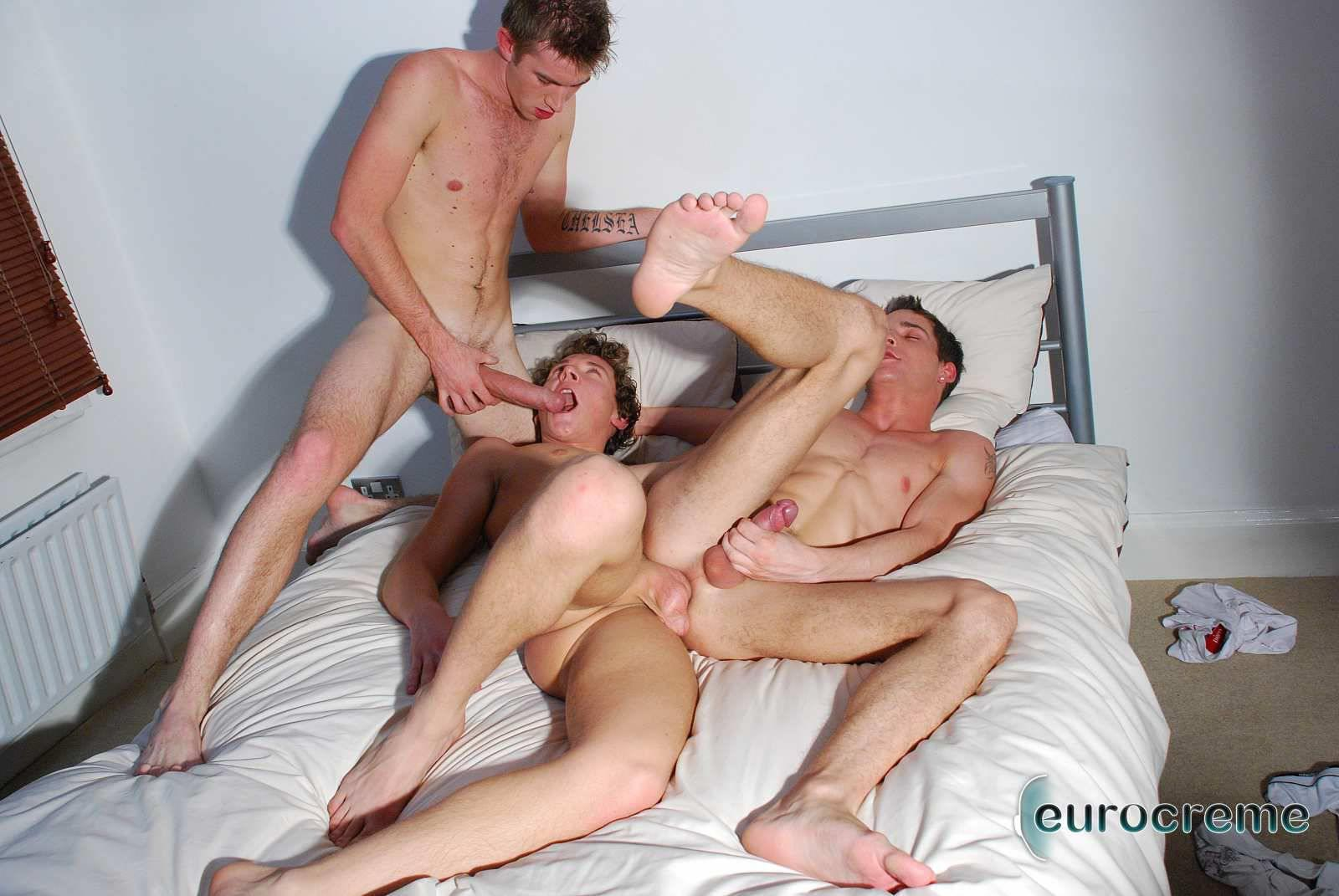 Eurocreme-Matt-Hughes-and-Alex-Stevens-and-Philipe-Delvaux-Twinks-Fucking-Amateur-Gay-Porn-14 Matt Hughes Uses His 11-Inch Uncut Cock On Two Tricks