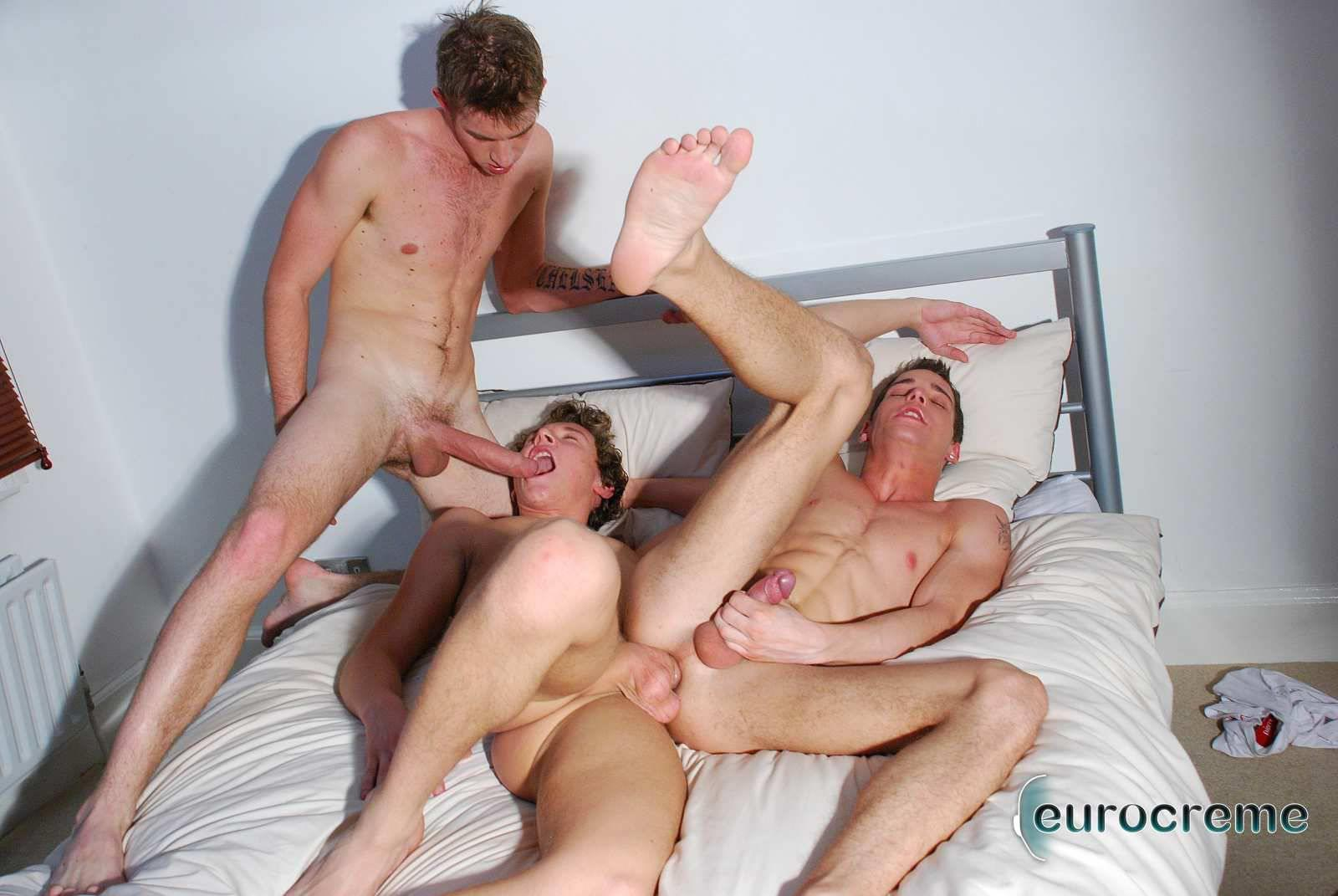 Eurocreme-Matt-Hughes-and-Alex-Stevens-and-Philipe-Delvaux-Twinks-Fucking-Amateur-Gay-Porn-16 Matt Hughes Uses His 11-Inch Uncut Cock On Two Tricks