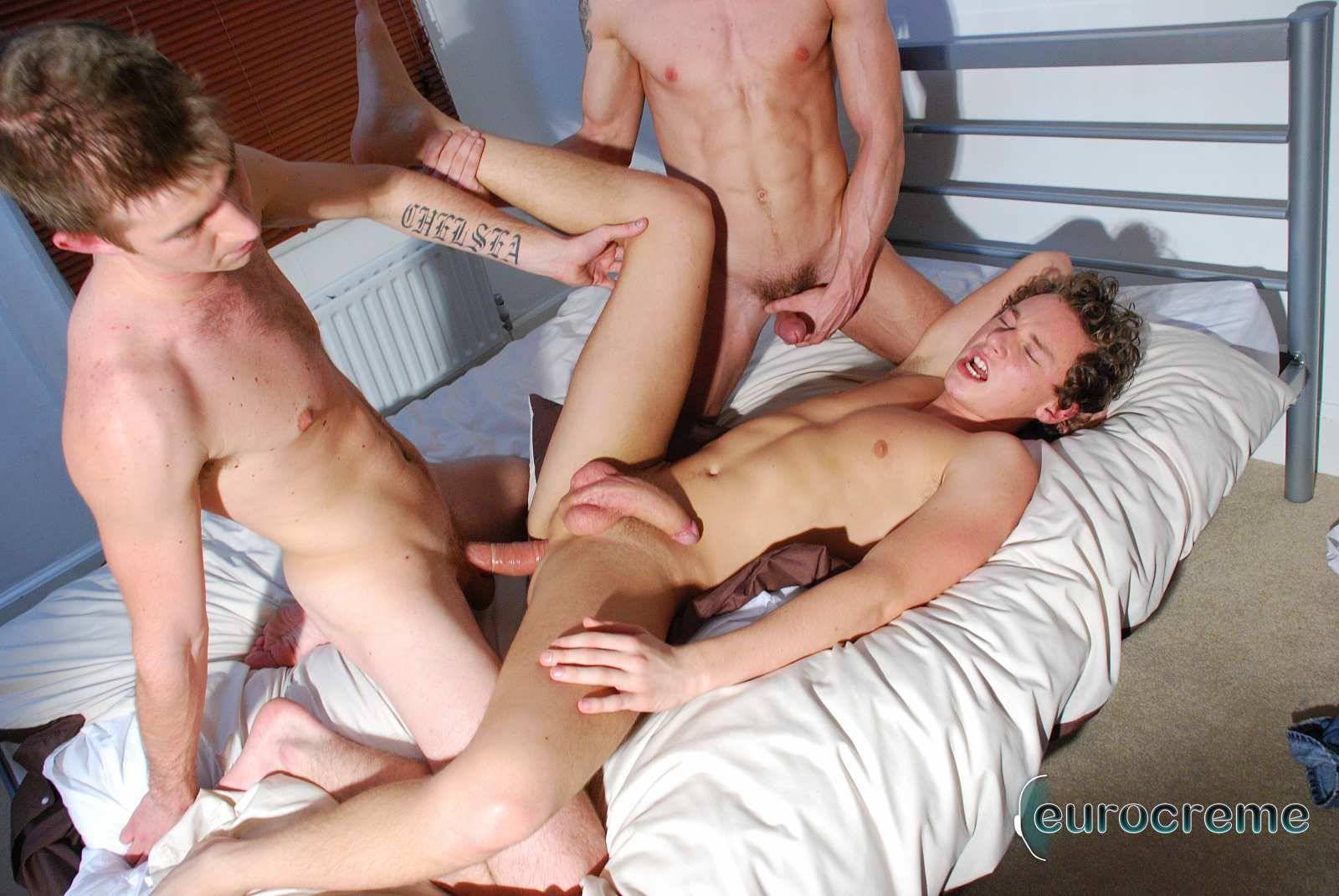 Eurocreme-Matt-Hughes-and-Alex-Stevens-and-Philipe-Delvaux-Twinks-Fucking-Amateur-Gay-Porn-19 Matt Hughes Uses His 11-Inch Uncut Cock On Two Tricks